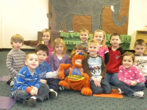 2011 Vantage preschoolers excited to learn about teeth!